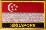 Singapore Embroidered Flag Patch, style 09.